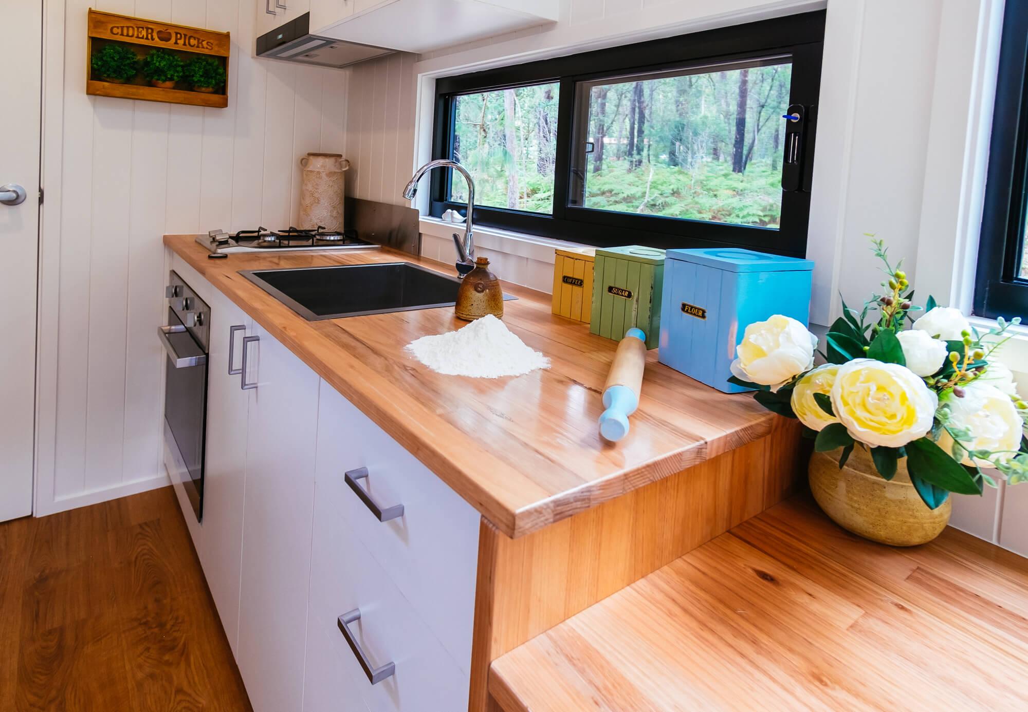 Eco Tiny Home Kitchen